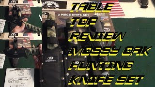 Mossy Oak hunting knife set-Table top review