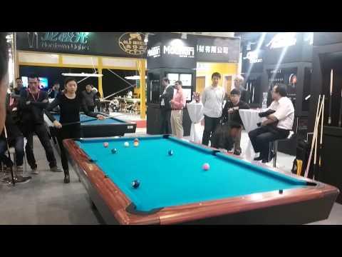 여성 포켓경기 시범 Woman Pool exhibition in GBE, China