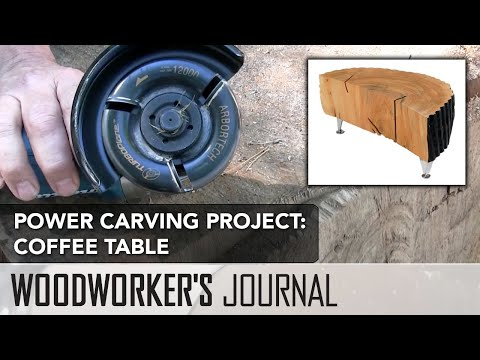 Power Carving Project | Turning a Log into a Coffee Table