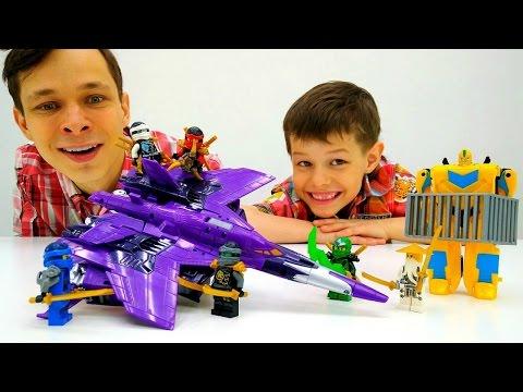 ☯ ЛЕГО #НиндзяГо спасают Бамблби 👊! Видео с игрушками #Трансформеры Игры #длямальчиков гонки