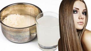 Agua de arroz para hacer crecer el cabello