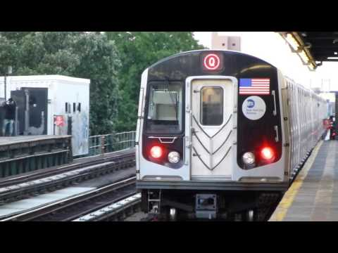 BMT Astoria Line: R160B Siemens & Alstoms Q & N Trains at 36th-Washington Aves