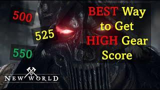 The BEST Way t๐ Get HIGH Gear Score - New World: Gearing Deep Dive