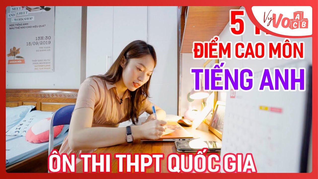 Cách ôn thi điểm cao tại nhà môn Tiếng Anh THPT Quốc gia | VyVocab Ep.45 | Khánh Vy