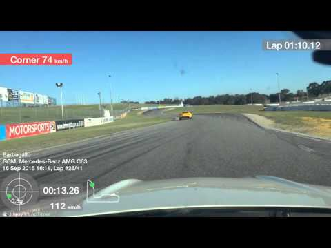 AMG C63 vs Lotus Elise at Barbagallo Raceway