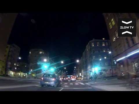 Driving In Stockholm At Night