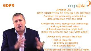 Data protection by design & default? Part 13 in our Guide to GDPR in 1 minute bites