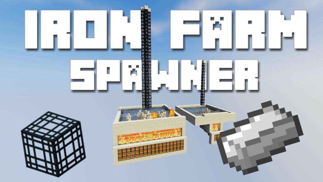 Minecraft Iron Farm Tutorial With Spawner YouTube - Minecraft nutzliche spielerkopfe