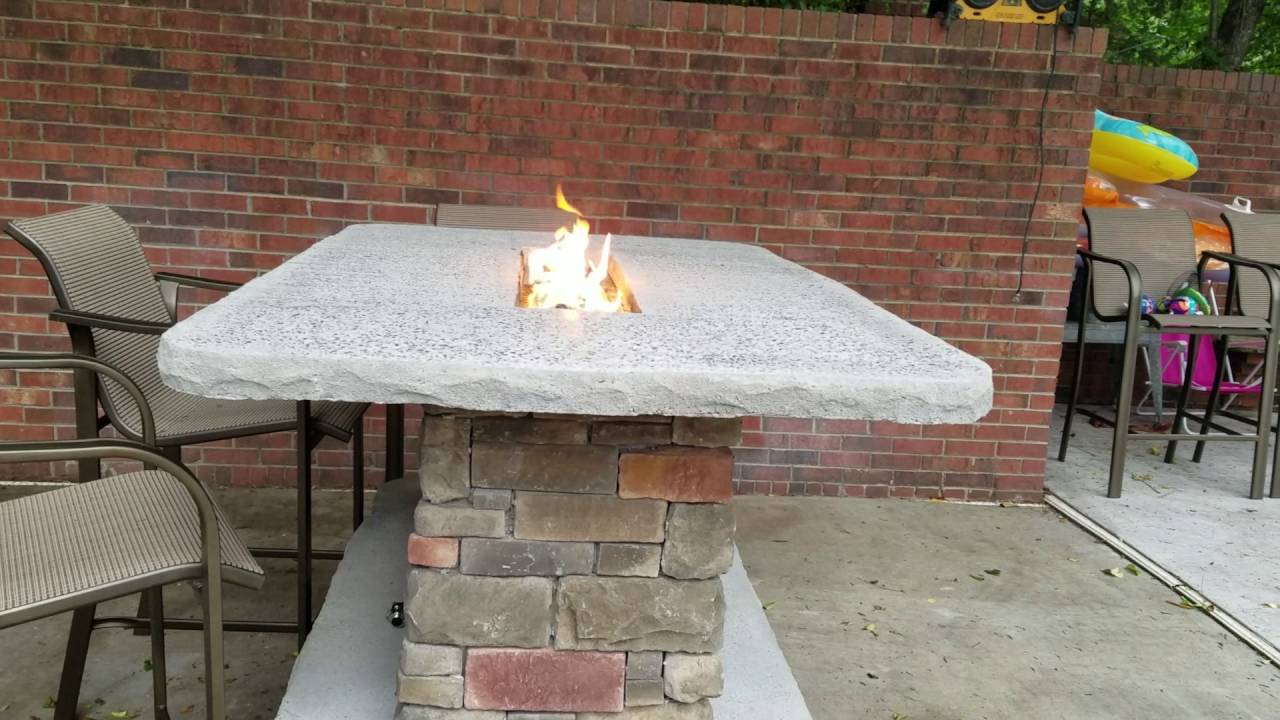 Bar Height Firepit Table YouTube - Pub height fire pit table