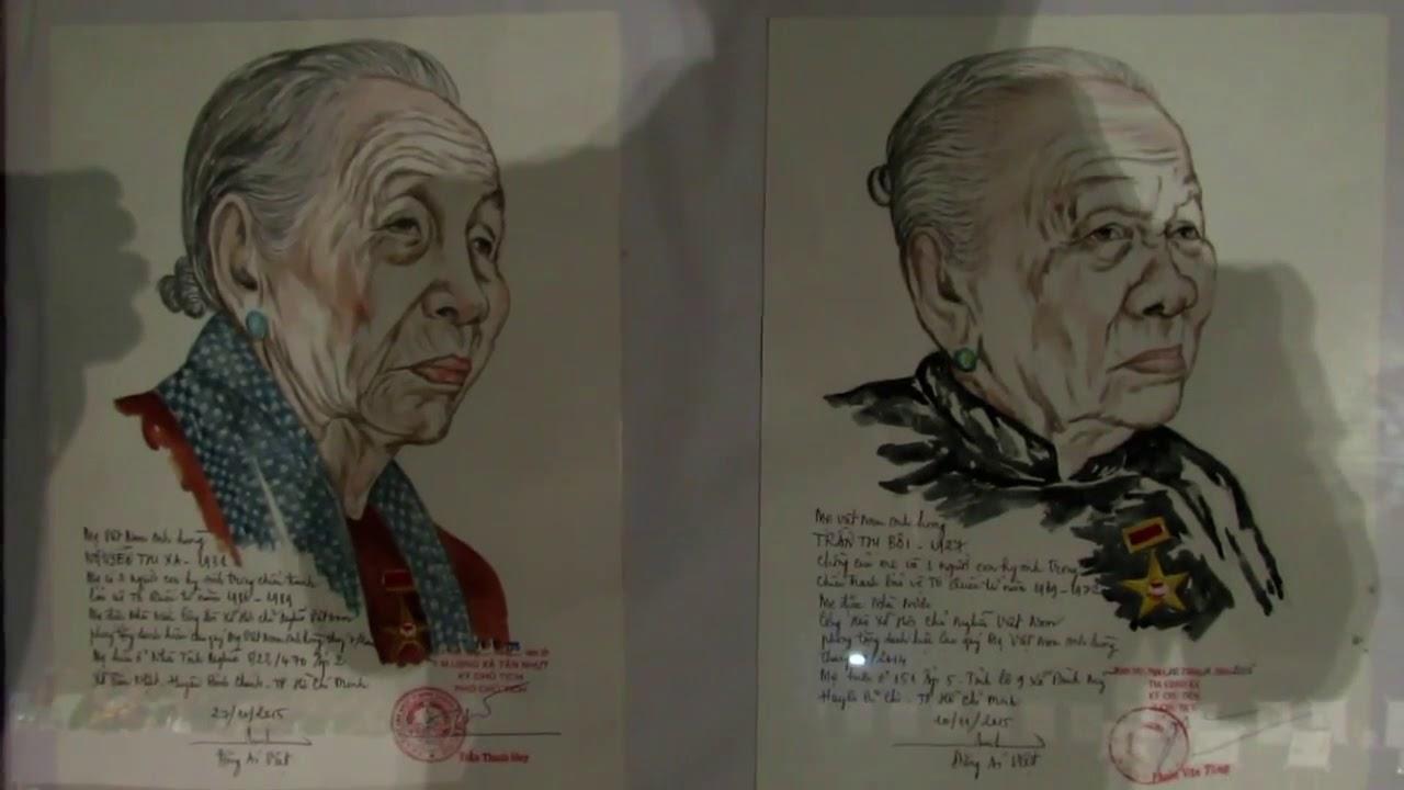 Họa sĩ Đặng Ái Việt khắc họa chân dung Mẹ Việt Nam anh hùng