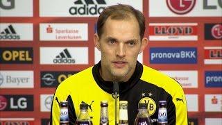 Schmidt und Tuchel nach Bayer 04 Leverkusen vs. Borussia Dortmund (1. Bundesliga, 2015/16)