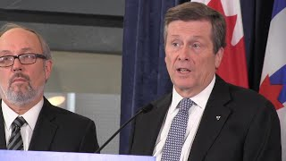 """Toronto's mayor said Jan. 9, 2017 that it is """"not acceptable"""" that people continue to die of overdoses due to opioid drugs like fentanyl. John Tory met with health officials on dealing with the issue, which has already killed hundreds in"""