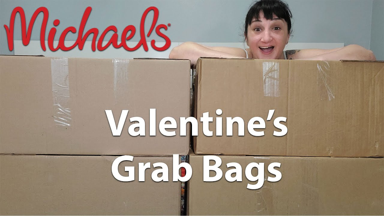 Michaels Valentines Grab Bags Unboxing | So Many Fun Items | 3/1/21