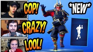 "STREAMERS REACT TO *NEW* ""CRAZY FEET"" EMOTE/DANCE! *RARE* Fortnite FUNNY & SAVAGE Moments"