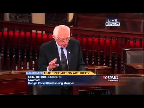 Bernie Sanders on Fast Track (TPA) [5/14/2015]