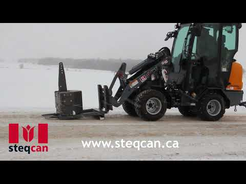 The Steqcan quick connect system transforms wheel loaders