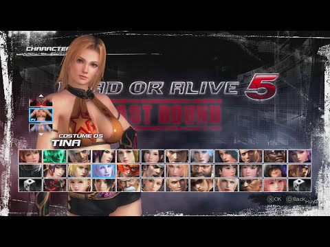 Dead Or Alive 5 Last Round Tina All Sexy Costumes In Motion Part 1 Jiggle Physics PS4