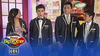 "PBB 737: Teen Big 4 sing ""Stay Positive"""