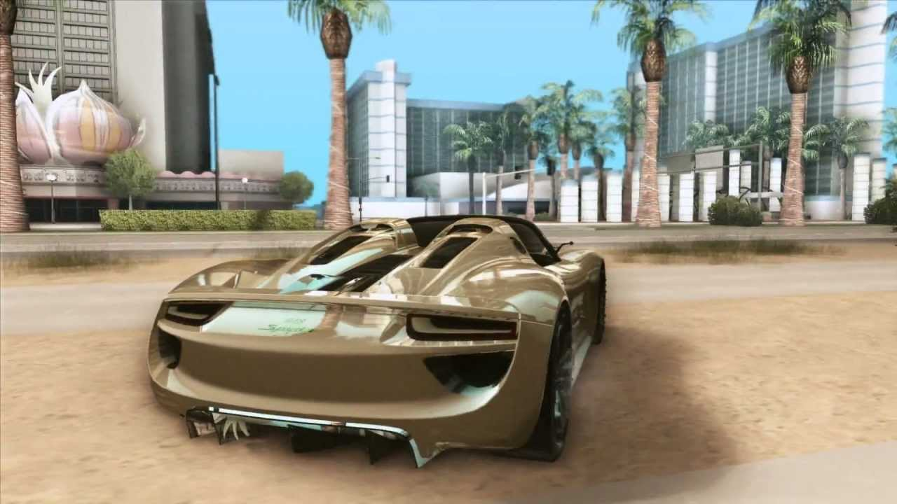 gta sa porsche 918 spyder concept study youtube. Black Bedroom Furniture Sets. Home Design Ideas