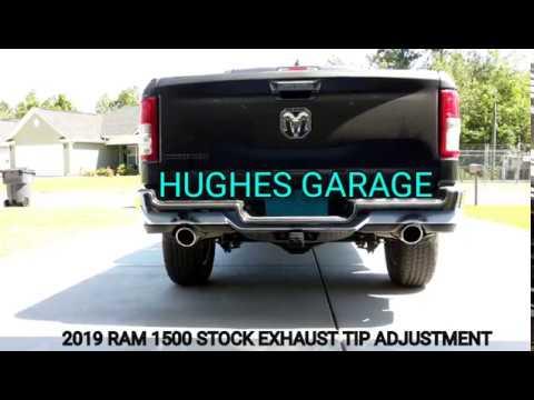 2019 ram exhaust tip adjustment how to