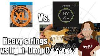 Heavy Vs Light guitar strings - featuring D'Addario NYXL and XL