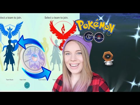 CHANGE TEAMS IN POKEMON GO! + Smeargle Coming Soon! Opening a Meltan Mystery Box in Pokemon Go! thumbnail