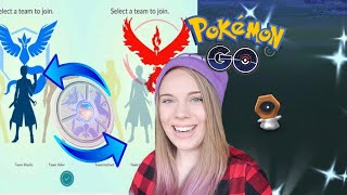 CHANGE TEAMS IN POKEMON GO! + Smeargle Coming Soon! Opening a Meltan Mystery Box in Pokemon Go!