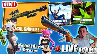 HOLY S#!&! SOARING 50s ☂️ Heavy Sniper SHOOTOUT 🔫 🎧 GIVEAWAY - Fortnite Battle Royale 🔴 Live Rewind