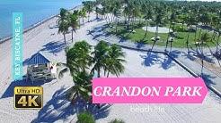 Crandon Park Beach in Key Biscayne, Florida - Drone Flyover