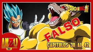 "DRAGON BALL SUPER TITULOS PARA LOS CAPITULOS 38 A 42 ""FALSOS"" 