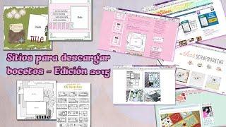 Sitios para descargar bocetos - Edición 2015 (Tips scrapbook)
