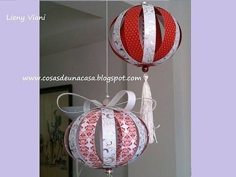 Esferas para navidad con papeler a creativa youtube - Esferas de navidad ...