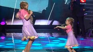 Валерия и Анастасия Петрик «Чёрный кот» «Україна має талант - 2» Первый прямой эфир