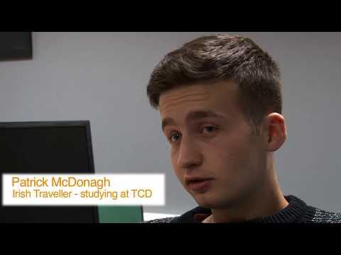 Patrick McDonagh, Irish Traveller – studying at Trinity College Dublin