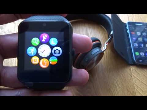 Unboxing and review of a CHEREEKI Bluetooth Smartwatch with Camera Supports SIM Card TF Card GT08
