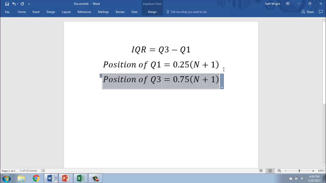 Calculating The Interquartile Range In Excel