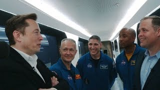 NASA Administrator Bridenstine Chats with Elon Musk of SpaceX