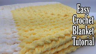 Easy Crochet Blanket | Crochet Beginner Blanket | Bag O Day Crochet