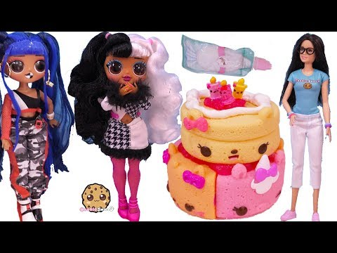Birthday Num Noms Cake with Slime for OMG LOL Surprise Dollie Cookie Swirl C Video