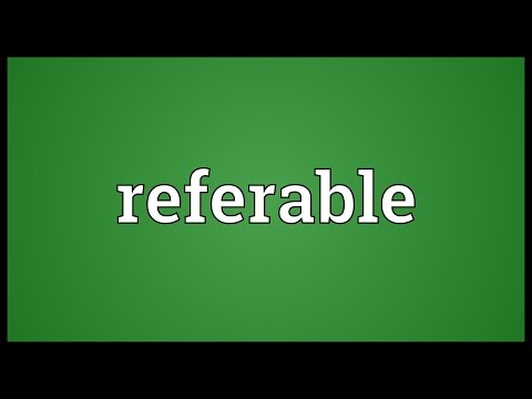 Header of referable