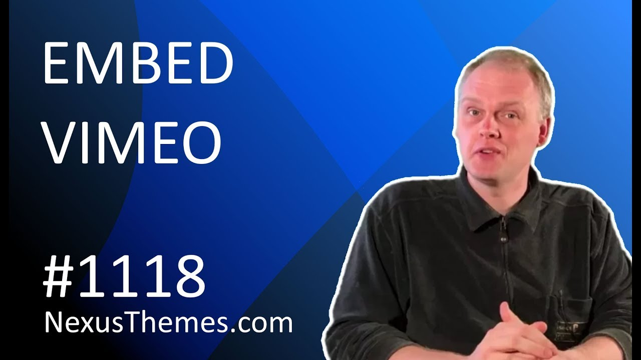 How to embed a Video from Vimeo onto your WordPress website