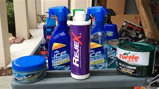 Turtle Wax ICE Synthetic Paste Polish & RejeX Paint Sealant