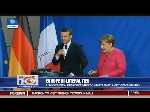 News@10: France's New President Macron Meets With Germany's Merkel 15/05/17 Pt. 4