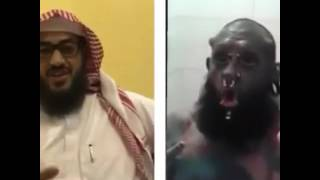 شوفو هذا الرجال الي يعبد الشيطان في المملكة العربية السعودية في الرياض