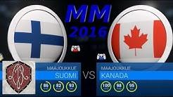 NHL16 KANADA - SUOMI MM 2016 tulos jos LuJaBros olisi kentällä   ( Canada - Finland )