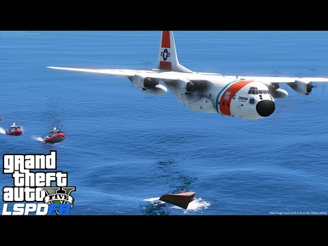 GTA 5 LSPDFR Coastal Callouts | Coast Guard C-130 Air Support Plane Helping Out With A Boat Pursuit