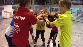 Трюки на роликах. Танец на роликовых коньках. Постановка. Ученики школы Роллер-Омск.