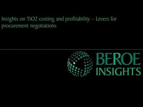 TiO2 costing and profitability aspects  Webinar