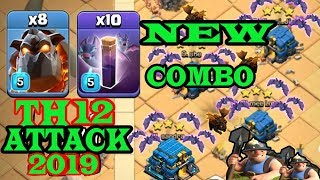 new combo,th12 WAR 3 STAR , ,ATTACK STRATEGY 2019,bat spell,clash of clans,Updated