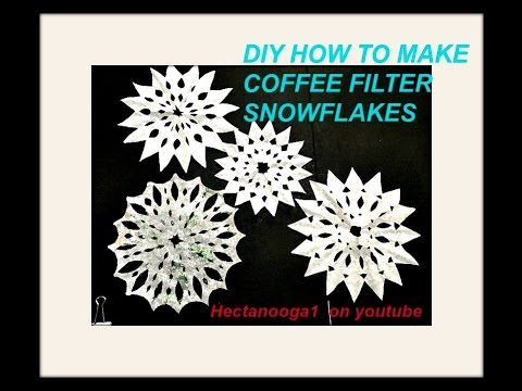 paper snowflakes, COFFEE FILTER SNOWFLAKES, Easy cut out snowflakes, PAPER CRAFTS, Christmas